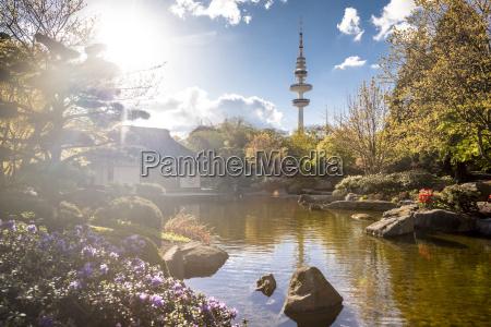 germany hamburg japanese garden at planten
