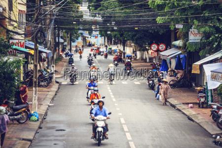 vietnam mekong delta motorbike riders on