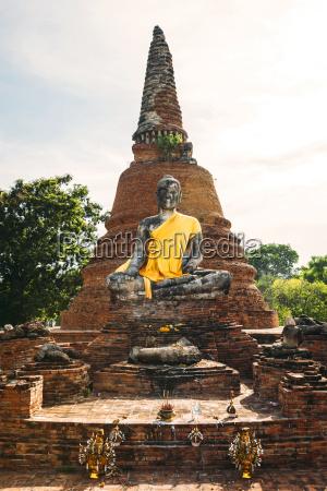 thailand ayutthaya buddha statue