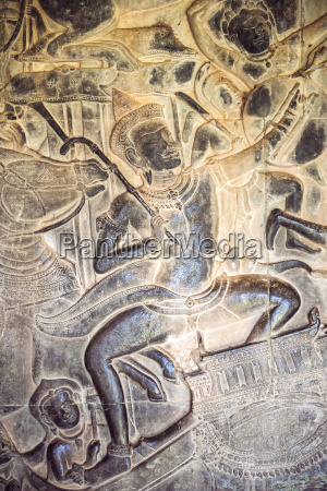 cambodia siem reap stone carving at