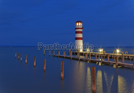 austria burgenland view of lighthouse at