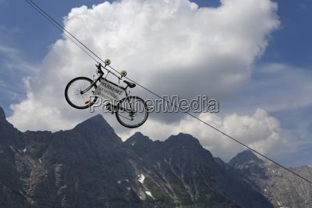 austria tyrol view of mountain bike