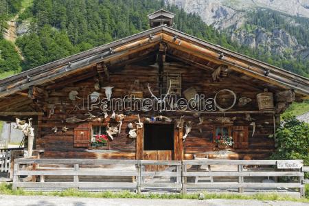 austria tyrol view of alp house