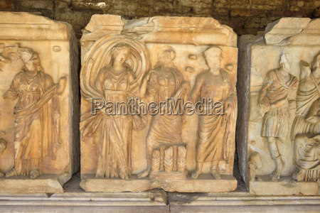 turkey caria marble temple friese at