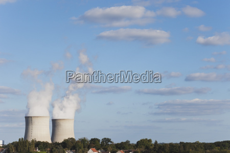 france view of nuclear power plant