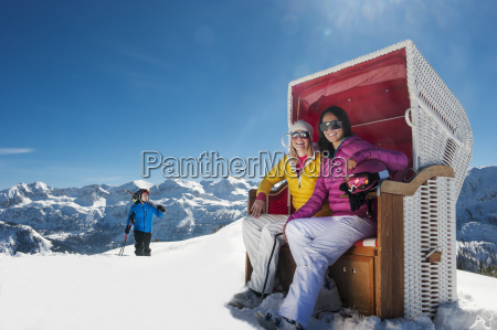austria salzburg young people in mountains
