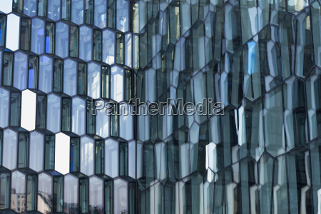 iceland reykjavik view of glass pane