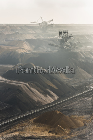 germany view of brown charcoal mining