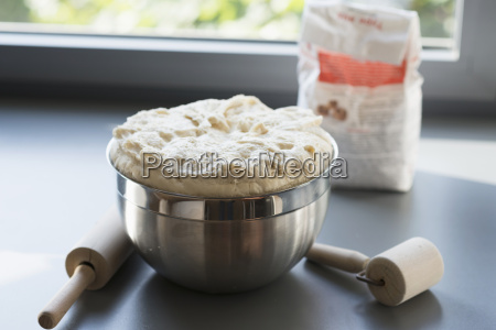 germany fuerth pizza dough in a