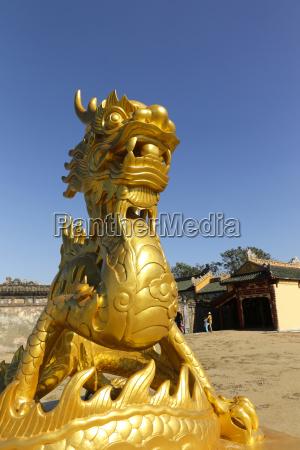 vietnam hue dragon sculpture at citadel