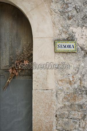 spain majorca orient entrance door of