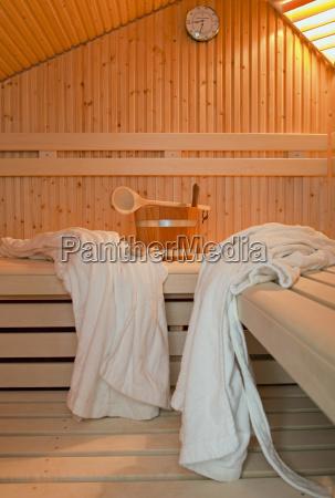 germany aachen sauna wooden benches bathrobes