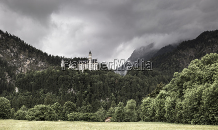 germany bavaria schwangau neuschwanstein castle and