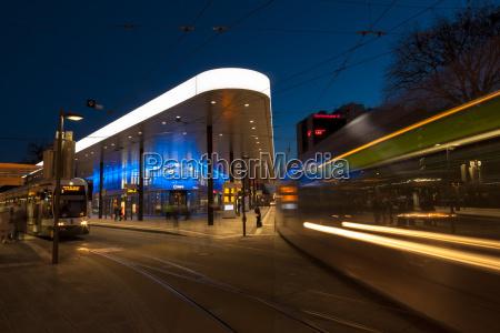 germany augsburg tram stop at koenigsplatz