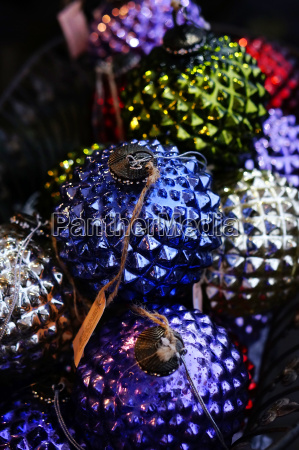 spiky christmas baubles