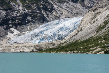 norway view of jostedalsbreen glacier