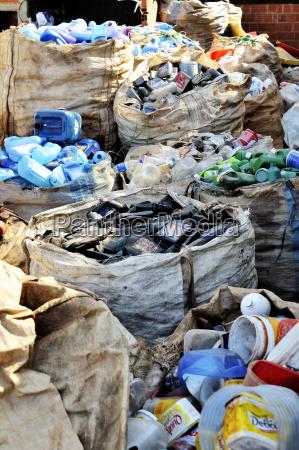 brazil ceilandia sacks of separeted plastic