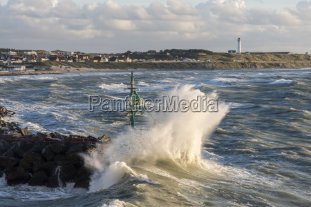 denmark view of surf at harbour