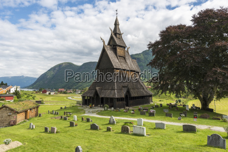 norway view of hopperstad stave church