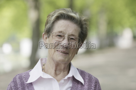 germany cologne portrait of senior woman