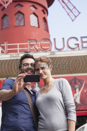 france, , paris, , couple, photographing, , themselves - 21085087