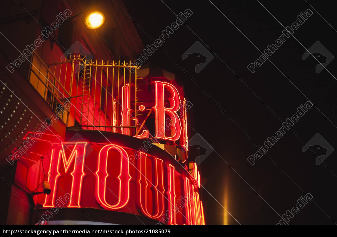 france, , paris, , lightes, moulin, rouge, by - 21085079