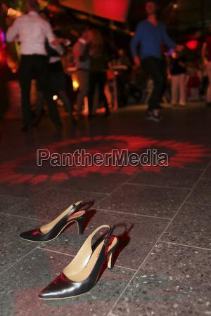 high heels standing on the dance