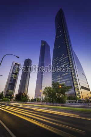 spain madrid cuatro torres highway traffic