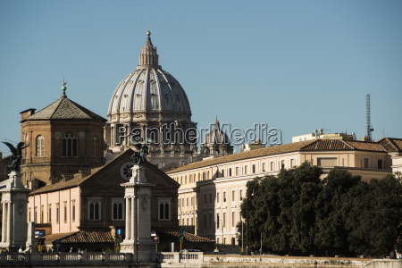 italy rome dome of st peters