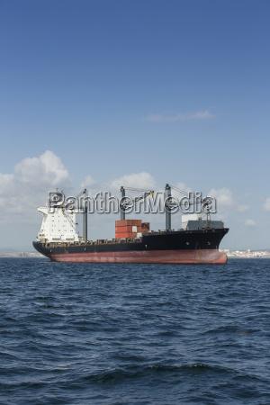 spain andalusia algeciras cargo ship roadstead