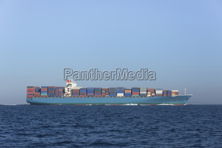 spain andalusia tarifa cargo ship on