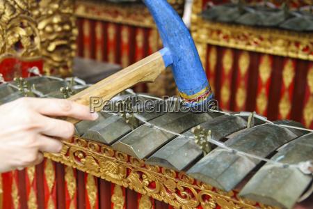 indonesia bali ritual percussion instrument in