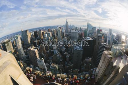 usa new york city view to