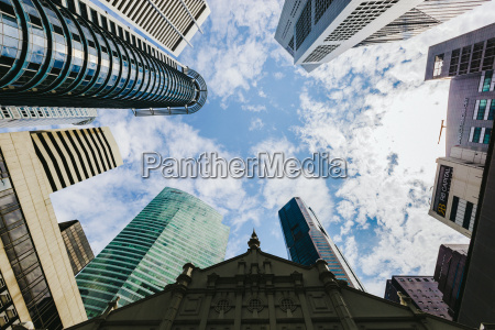 singapore skyscrapers low angle view