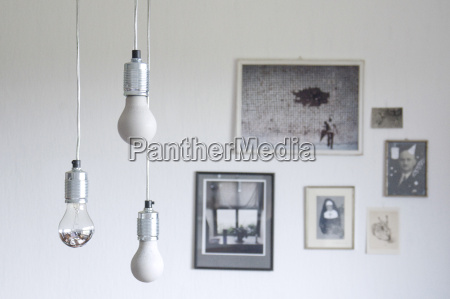 self made lightbulbs made of concrete