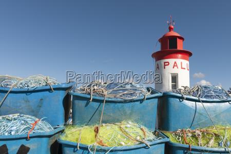 france, , bretagne, , landeda, , lighthouse, and, boxes - 21089983
