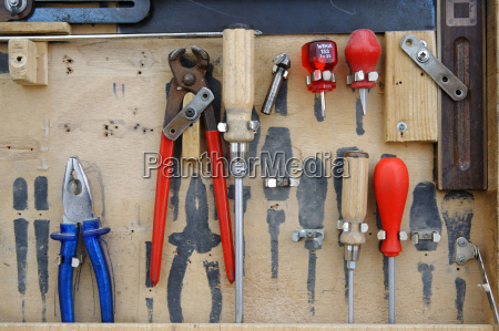 variety of tools in tool box