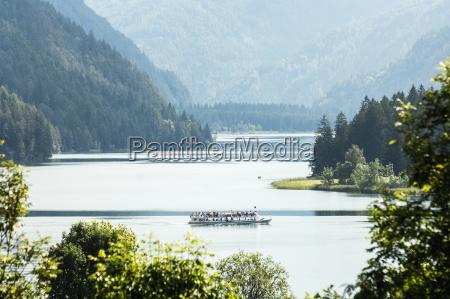 austria carinthia excursion boat on lake