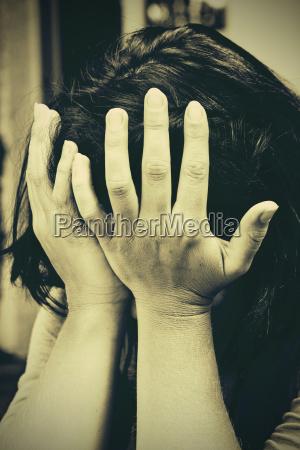 despairing young woman