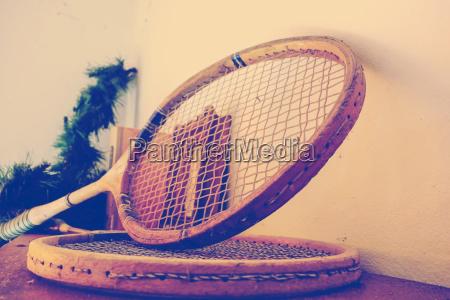 old tennis rackets