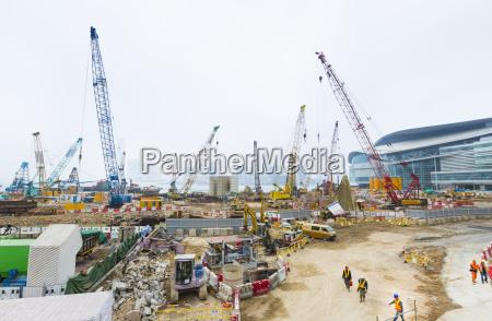 china hong kong construction site in