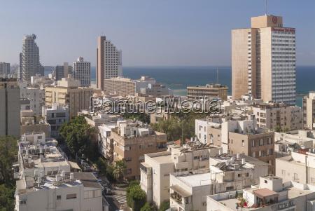 israel tel aviv cityscape housing area