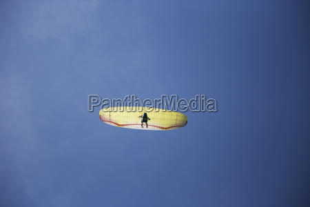 austria tyrol paraglider in front of