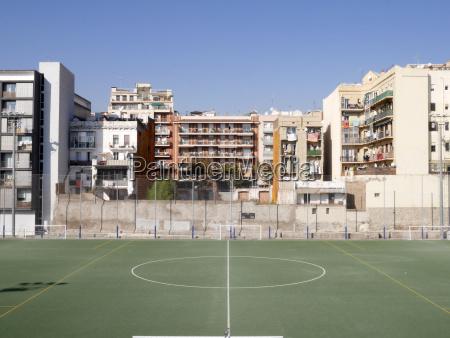 spain barcelona football ground and houses