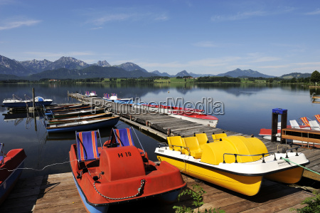 germany bavaria view of lake hopfensee