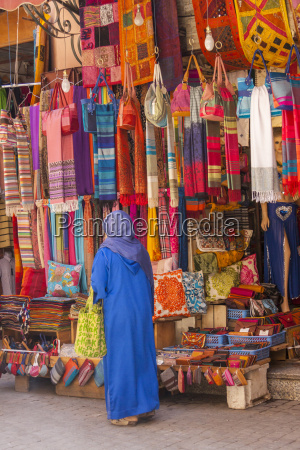morocco marrakesh woman in traditional cloth