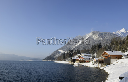 germany bavaria view of walchensee lake