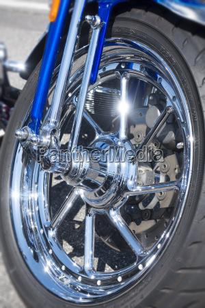front wheel of a harley davidson