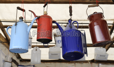 germany bavaria munich old cans hanging