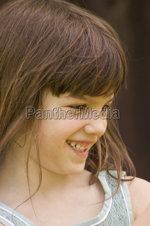 germany baden wuerttemberg girl smiling close
